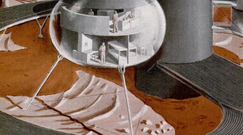 Ένα όραμα Metropolis στον Άρη, όπως την «είδε» τον Μάρτιο του 1953 το Popular Science