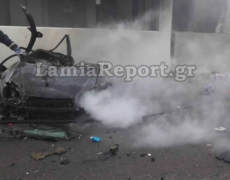 Το βίντεο-σοκ από τη στιγμή της φρικτής σύγκρουσης στην Αθηνών-Λαμίας