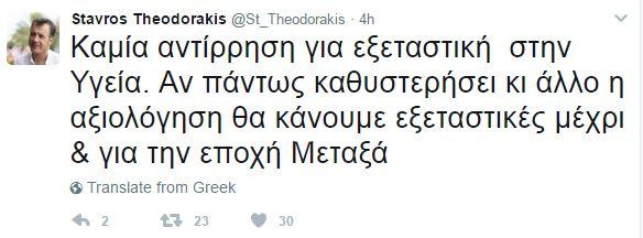 Θεοδωράκης: «Αν καθυστερήσει κι άλλο η αξιολόγηση θα φτάσουν οι εξεταστικές στην εποχή του Μεταξά»