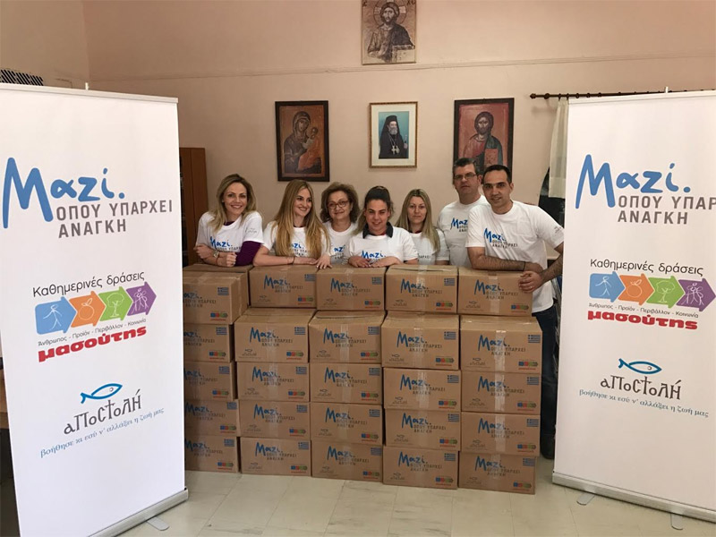 Αποστολή: Στήριξη 570 οικογενειών στις μητροπόλεις Ιωαννίνων και Χαλκίδος