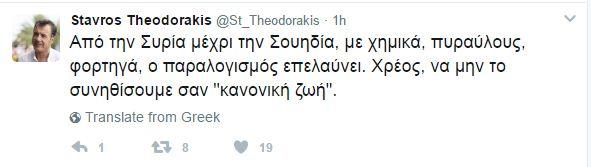 Θεοδωράκης: Επέλαση του παραλογισμού από τη Συρία μέχρι τη Σουηδία