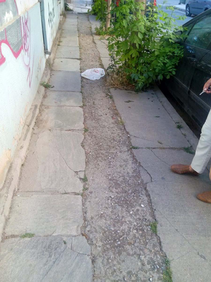8c47e0f0bfb6 Τα νέα έργα στο κέντρο της Λάρισας δίπλα σε... διαλυμένα πεζοδρόμια