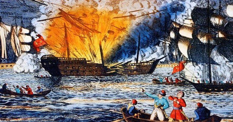 Η Ναυμαχία της Τενέδου - Ο Κανάρης διέλυσε τη ναυαρχίδα του οθωμανικού στόλου