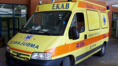 Τροχαίο στη Λάρισα με τραυματισμό στο κεφάλι