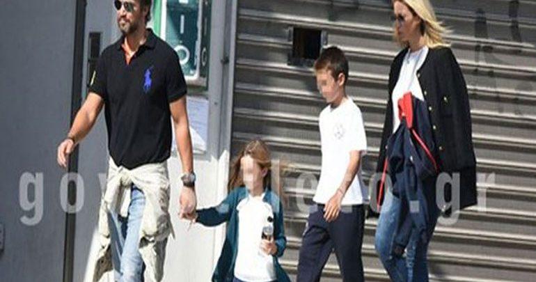 Η πρωινή βόλτα του Αλέξανδρου Παρθένη με τη σύντροφό του και τα παιδιά της!