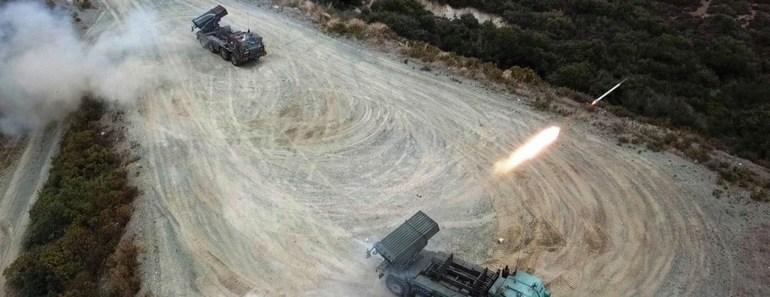 Εντυπωσιακές εικόνες από την εκτέλεση βολών καμπύλης τροχιάς στην Περιοχή Ευθύνης του Δ΄ Σώματος Στρατού