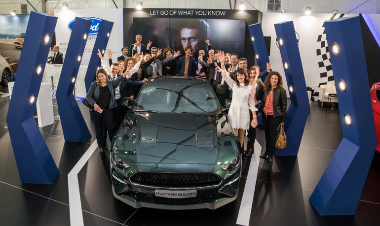 H ομάδα της Ford Motor Hellas έκανε μεγάλη προσπάθεια για να μπορέσει να έρθει στη χώρα μας και να την θαυμάσουμε από κοντά στην έκθεση αυτοκινήτου η συλλεκτική Mustang Bullitt