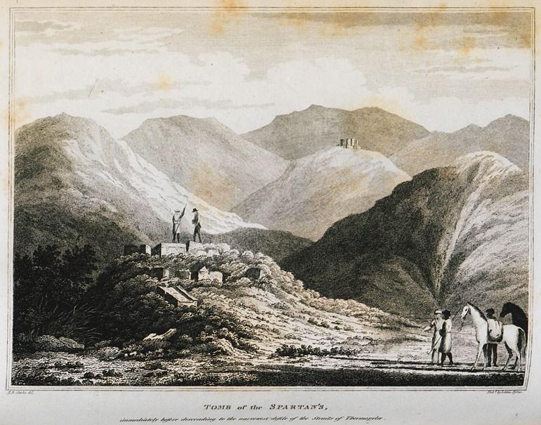 Αρχαία ταφικά μνημεία στις Θερμοπύλες το 1816