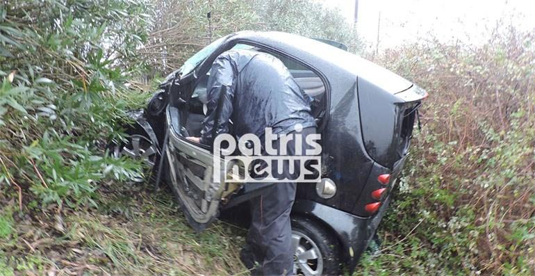 Τροχαίο με δύο τραυματίες στην Ε.Ο. Πύργου - Τριπόλεως