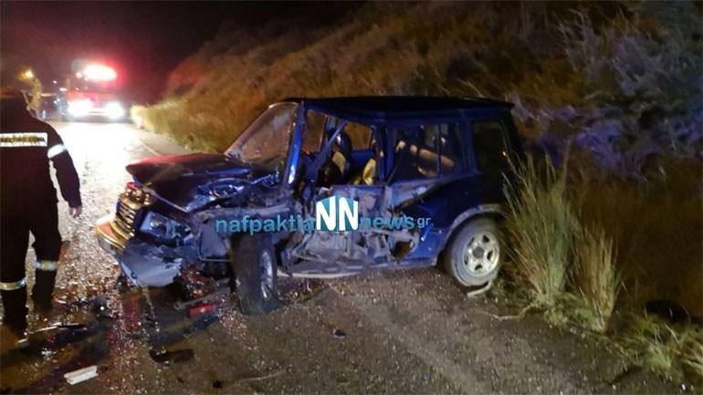 Τροχαίο με τρεις τραυματίες στην Ε.Ο. Ναυπάκτου - Αντιρρίου