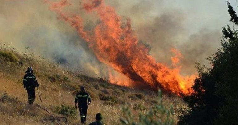 Πυρκαγιά σε πλαγιά στην Ιεράπετρα