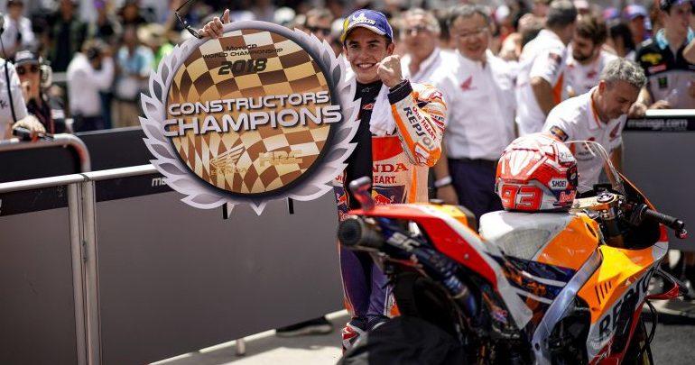 Κυριαρχία του Μarc Marquez σημαίνει τίτλος κατασκευαστών για τη Honda