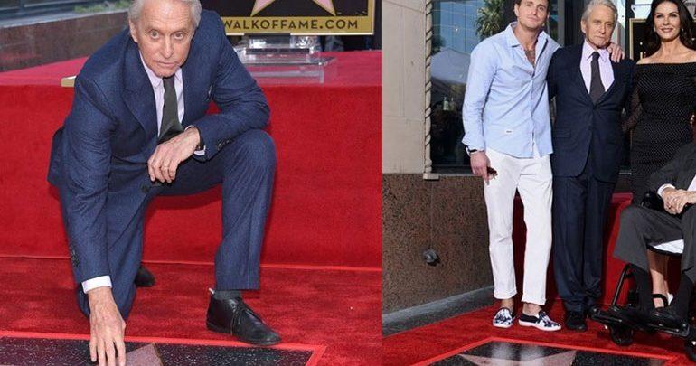 Ο Michael Douglas απέκτησε το δικό του αστέρι στo Hollywood Walk of Fame!