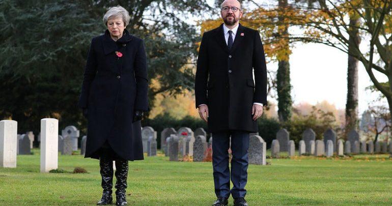 Αυτοκίνητο έπεσε στην αυτοκινητοπομπή των πρωθυπουργών Αγγλίας και Βελγίου