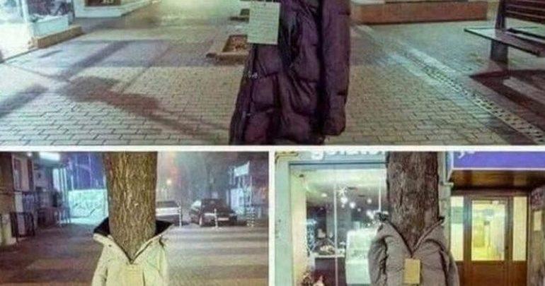 Λάρισα: Ντύνουν τα δέντρα με μπουφάν για τους άστεγους!