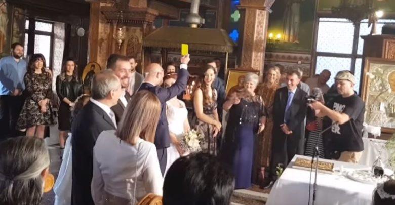 Γάμος... αλά ποδοσφαιρικά: Ο γαμπρός έβγαλε «κίτρινη» κάρτα στη νύφη όταν τού πάτησε το πόδι! (βίντεο)