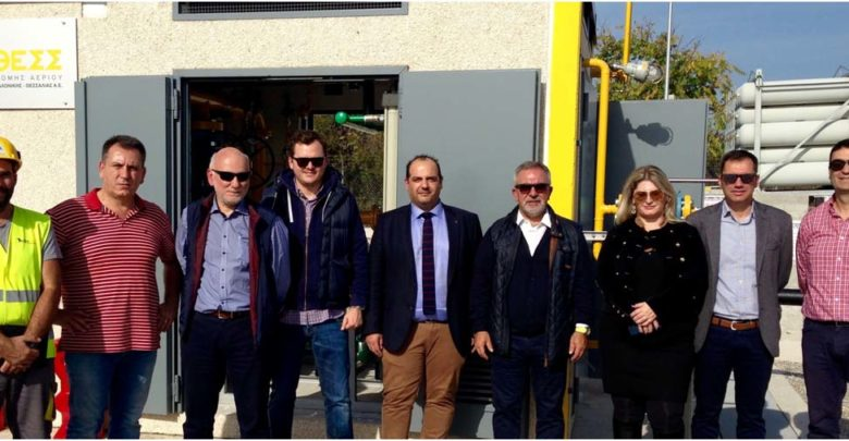 Επίσκεψη κλιμακίου ΤΕΕ στον σταθμό αποσυμπίεσης φυσικού αερίου, στον Τύρναβο