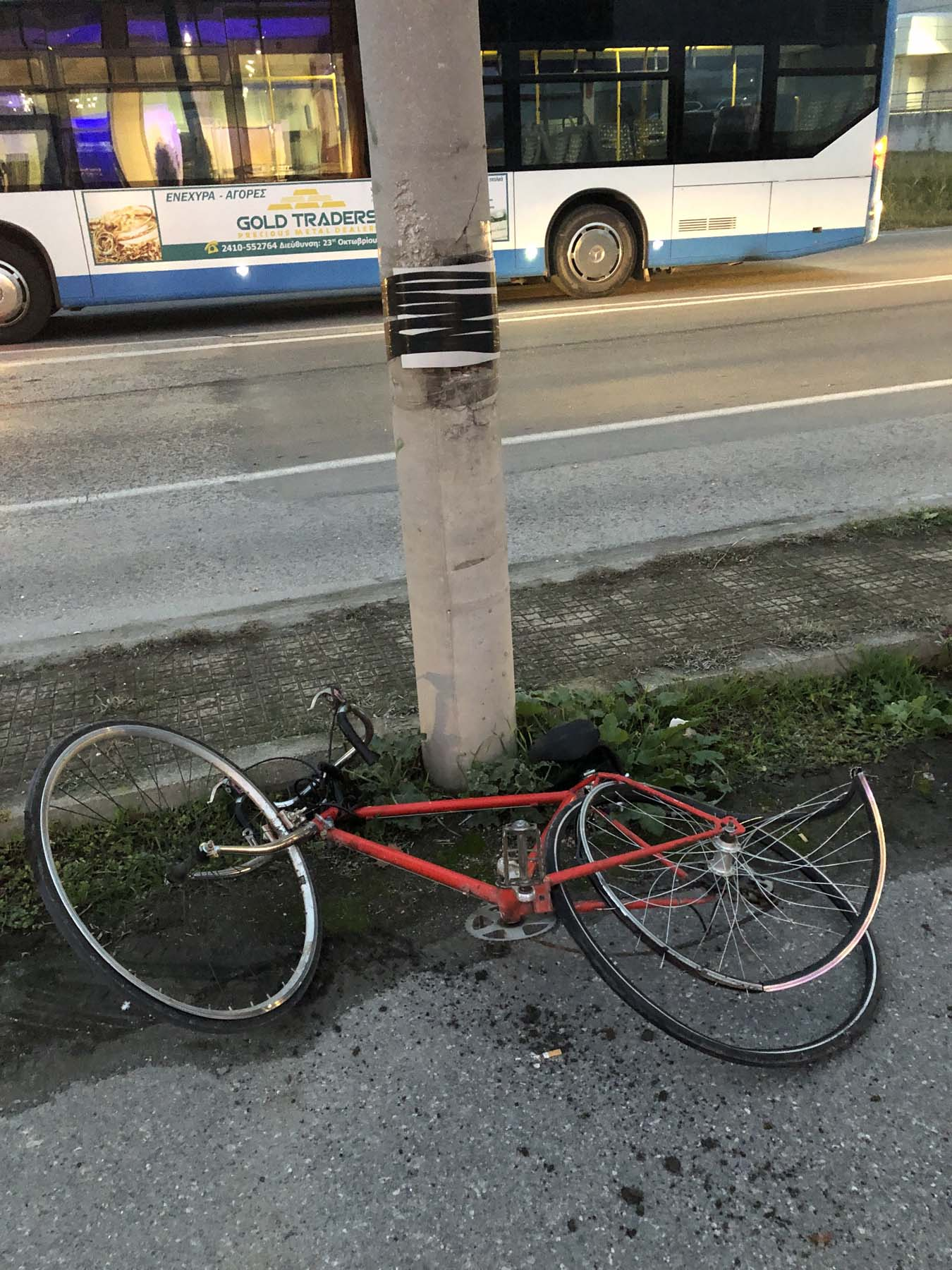 Εκτός κινδύνου νοσηλεύεται ο 20χρονος Λαρισαίος σπουδαστής μετά το σοβαρό τροχαίο με το ποδήλατό του