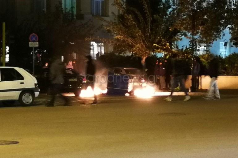 Χανιά: Επεισόδια στο τέλος της πορείας για τον Αλέξη Γρηγορόπουλο