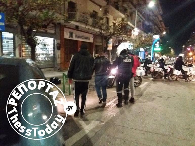 Θεσσαλονίκη: Προσαγωγές ατόμων μετά τα επεισόδια