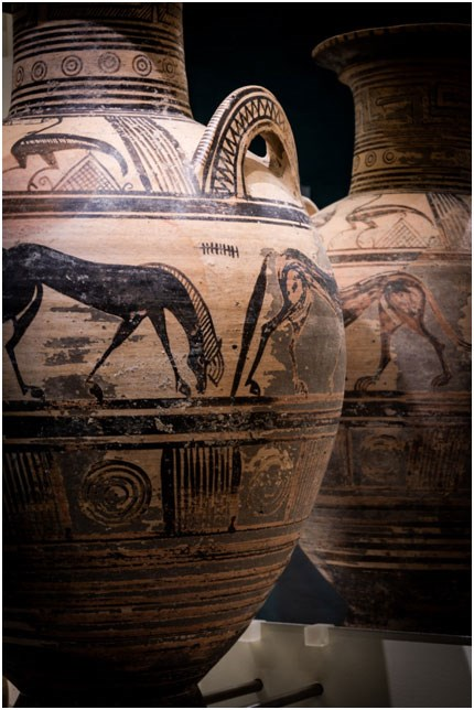 Ελεύθερνα, Πήλινος Αμφορέας, 700-675 π.Χ., Φωτογραφία: Γιώργος Αναστασάκης © Μουσείο Κυκλαδικής Τέχνης