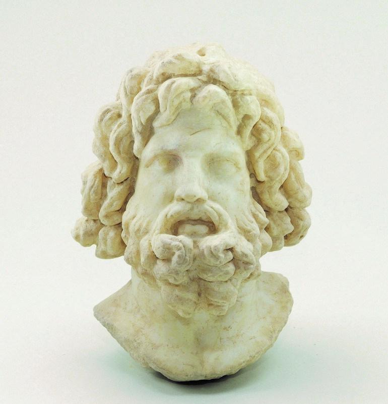 Μαρμάρινη κεφαλή ανδρικής μορφής, πιθανώς του Δία, Κνωσός, 31 π.Χ. – 324 μ.Χ.