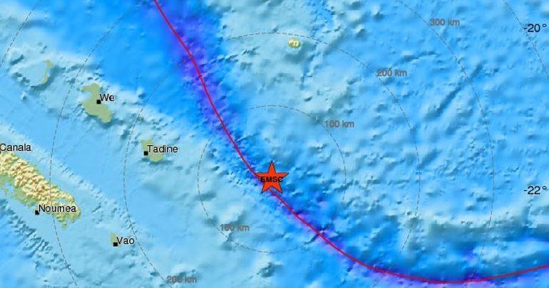 Σεισμός 7,6R ανοικτά της Νέας Καληδονίας - Εκδόθηκε προειδοποίηση για τσουνάμι