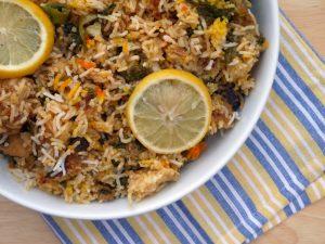 ρύζι με αποξηραμένα δαμάσκηνα