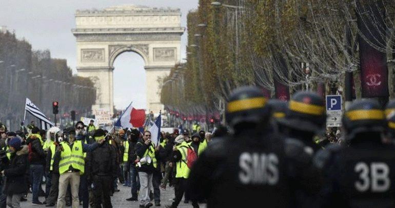 Γαλλία: Τα «κίτρινα γιλέκα» έφτασαν στην Αψίδα του Θριάμβου