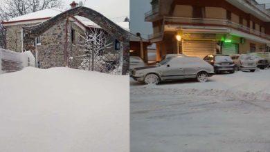 Πρωτοχρονιά με χιόνι σε Ελασσόνα, Φάρσαλα και Κίσσαβο - Δείτε video και φωτογραφίες
