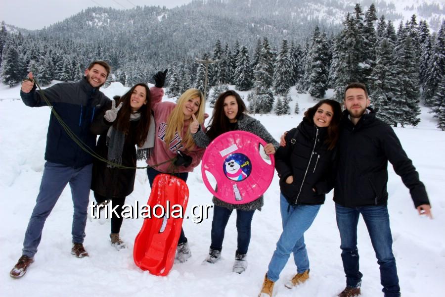 Πανέμορφες εικόνες από τα χιονισμένα ορεινά των Τρικάλων