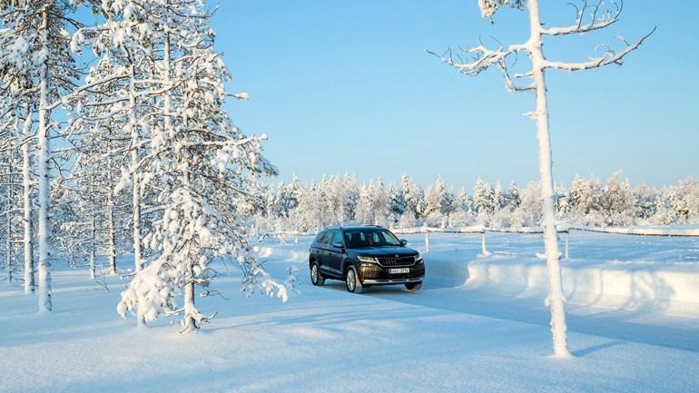 Όταν όλα είναι παγωμένα, το τσεχικό SUV προχωρά