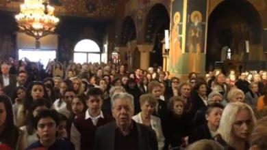 Τραγούδησαν το «Μακεδονία Ξακουστή» στον Καθεδρικό Ιερό Ναό Παναγίας Φανερωμένης Χολαργού