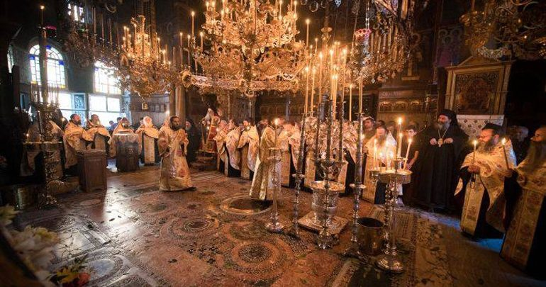 Με βυζαντινή μεγαλοπρέπεια εορτάστηκε στο Άγιον Όρος η εθνική επέτειος της 25ης Μαρτίου