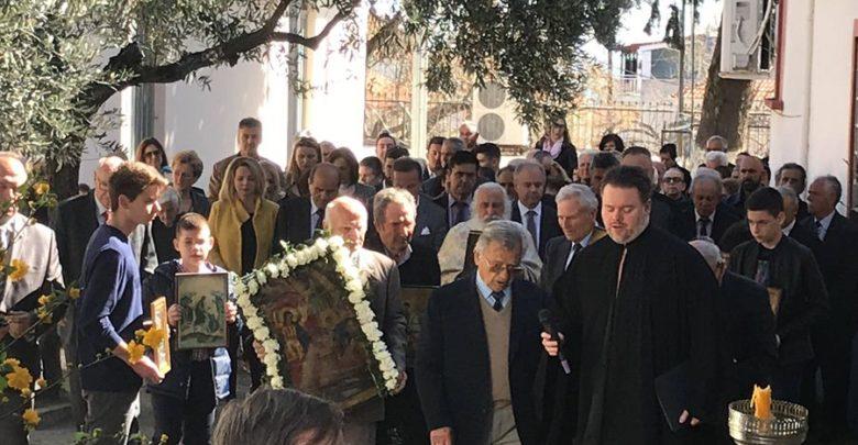 Ο Γ. Μανώλης στον Ιερό Ναό του Αγίου Γεωργίου στον Πυργετό για την πρώτη Κυριακή των Νηστειών