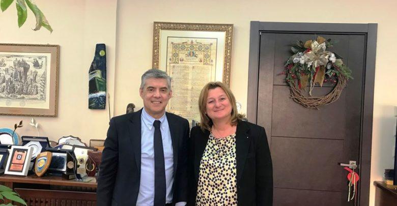 Στη Λάρισα η υποψήφια ευρωβουλευτής Καλυψώ Γούλα - Συναντήθηκε με τον περιφερειάρχη