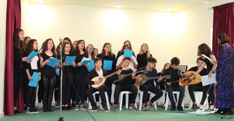 Η γιορτή της 25ης Μαρτίου στο Γυμνάσιο - Λύκειο Γόννων