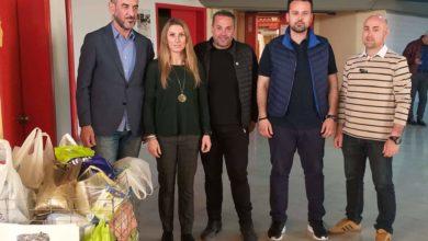 Τρόφιμα στο Κοινωνικό Παντοπωλείο δήμου Λαρισαίων από τον φιλικό αγώνα της Ολύμπια με την Εθνική Ενόπλων Δυνάμεων