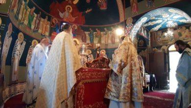 Εκατοντάδες πιστοί στην Ιερά Μονή Αγίων Θεοδώρων (φωτο)