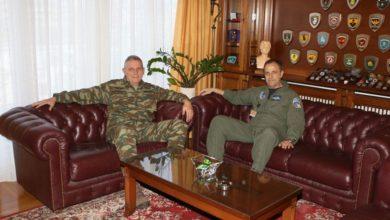 Επίσκεψη του Αρχηγού Τακτικής Αεροπορίας στο Διοικητή 1ης Στρατιάς