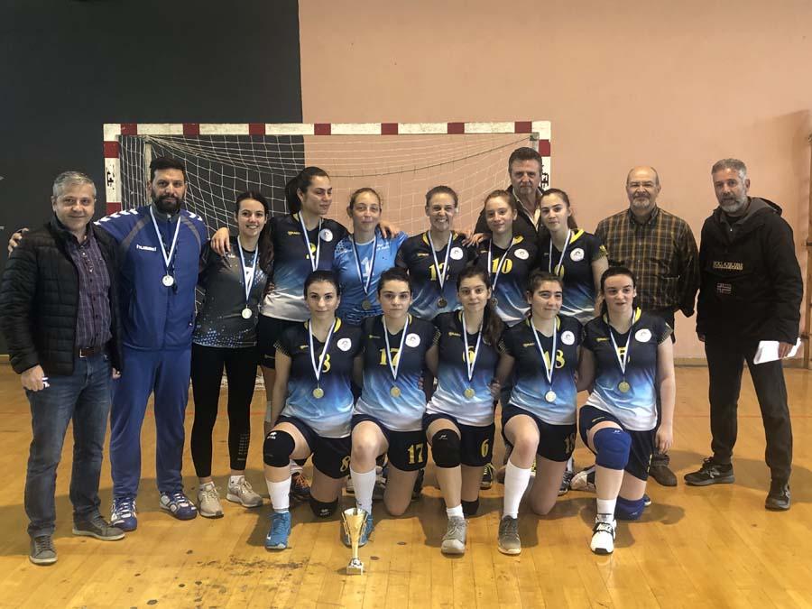 Λαρισαίες μαθήτριες πρωταθλήτριες Θεσσαλίας στο χάντμπολ για δεύτερη χρονιά!