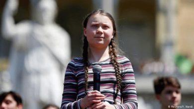 Ιταλία: Η 16χρονη ακτιβίστρια Γκρέτα Τούνμπεργκ διαδηλώνει για το κλίμα
