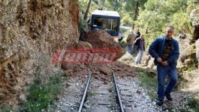 Διακοπτό - Καλάβρυτα: Κλειστή η σιδηροδρομική γραμμή - Εικόνες καταστροφής από την κατολίσθηση