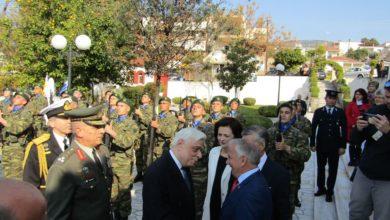 Υποδοχή της Α.Ε. Προέδρου της Δημοκρατίας από τον Διοικητή της 1ης Στρατιάς
