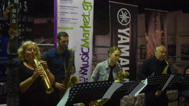 Μελωδίες σαξοφώνου με φόντο το Αρχαίο Θέατρο στη Λάρισα (φωτο - βίντεο)