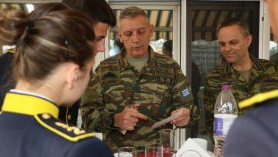 Μαθητές στρατιωτικών σχολών στην 1η Στρατιά