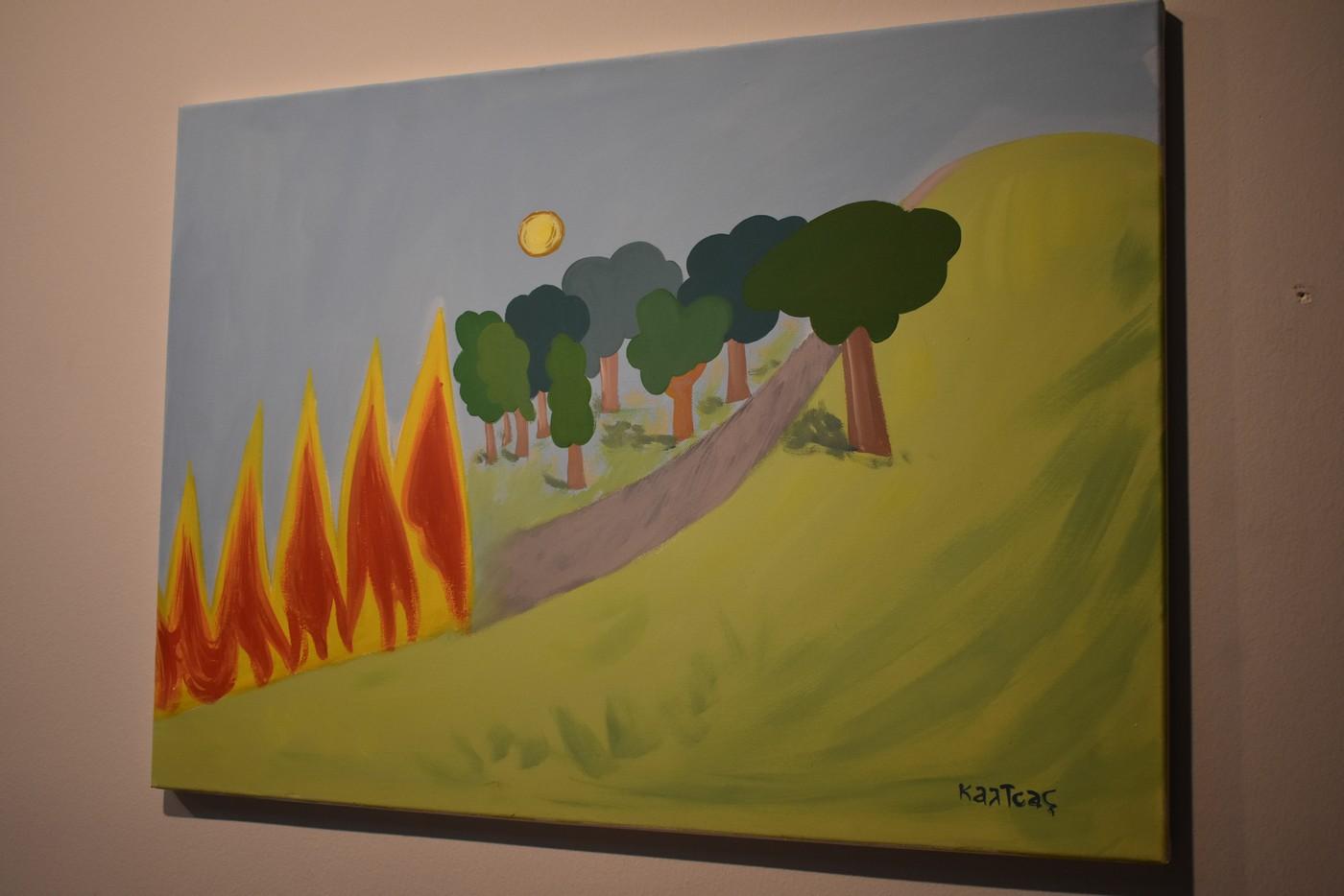 Εγκαίνια για την έκθεση ζωγραφικής «Περί μητέρας φύσης και οικουμενικότητας» στη Λάρισα