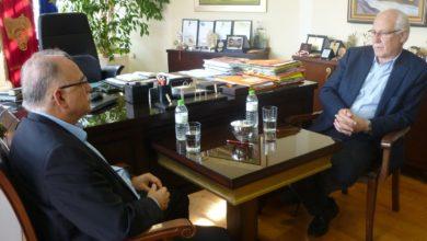 Επίσκεψη στο Δήμαρχο Λαρισαίων πραγματοποίησε ο Δημήτρης Παπαδημούλης (φωτο)