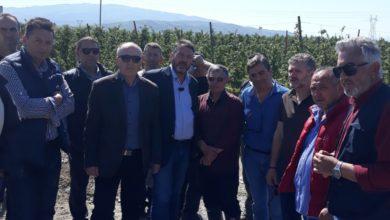 Κλιμάκιο της Περιφέρειας Θεσσαλίας επισκέφτηκε περιοχές των Δήμων Αγιάς, Κιλελέρ και Τεμπών που επλήγησαν από χαλάζι