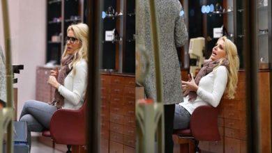 Ελένη Μενεγάκη: Σε κατάστημα οπτικών με casual look!